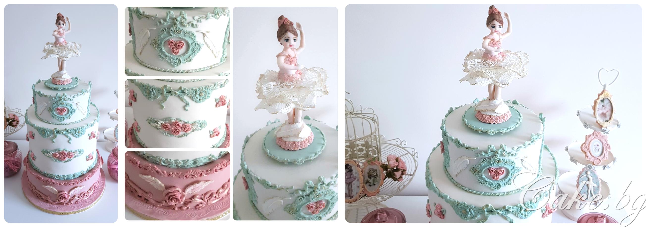 Торта с балерина